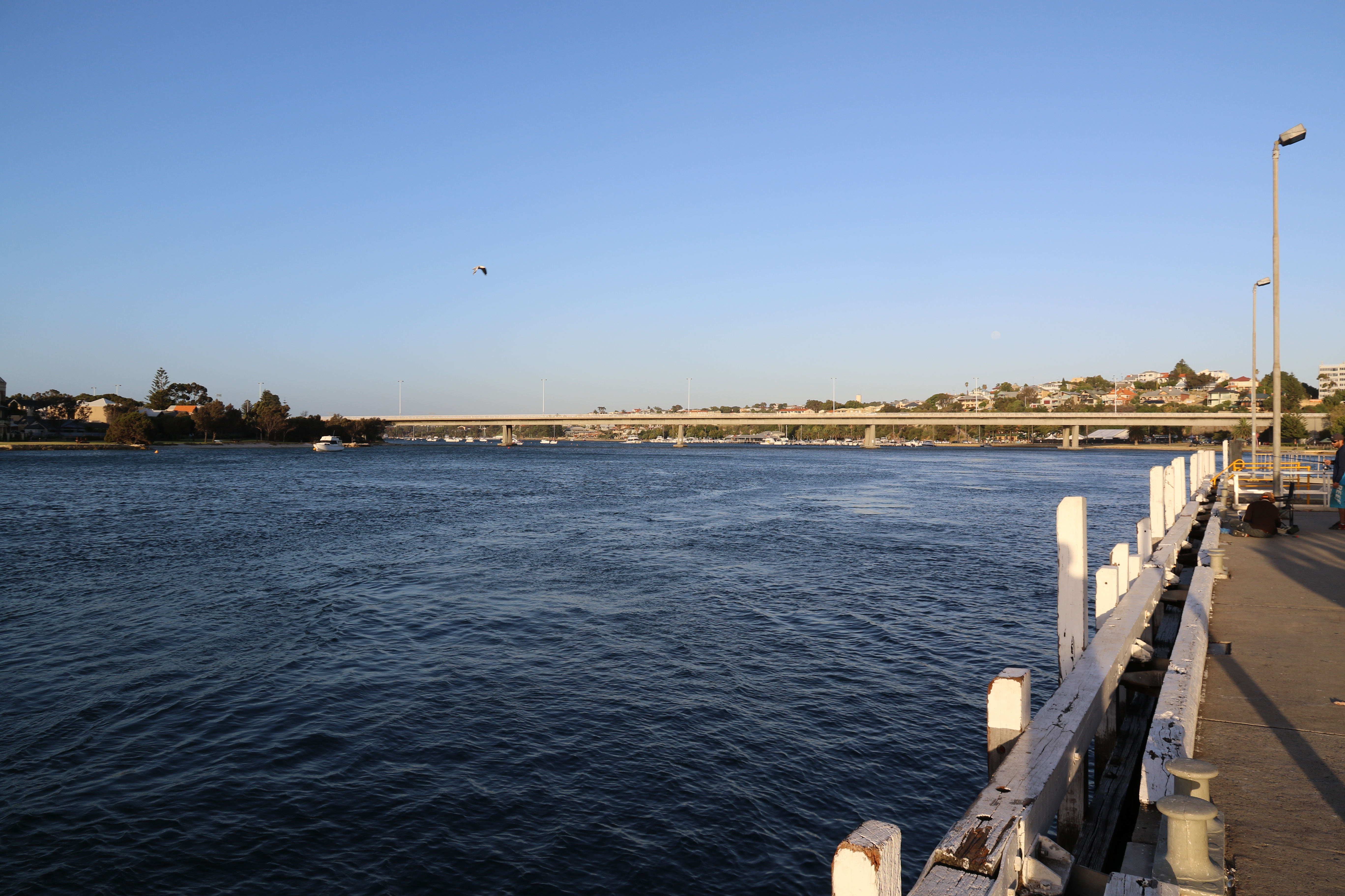 Swan River - View upstream from East Street Jetty - Fremantle WA