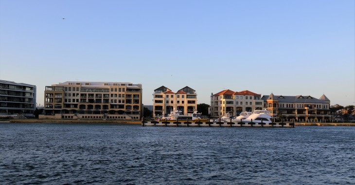 Posh Pads - Swan River, opposite East Street Jetty, Fremantle, WA
