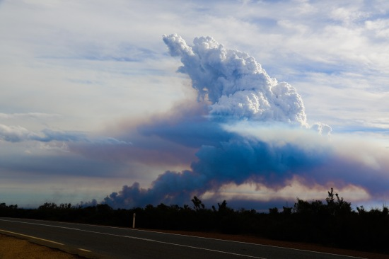 Bushfire Smokestack -viewed from Brand Highway