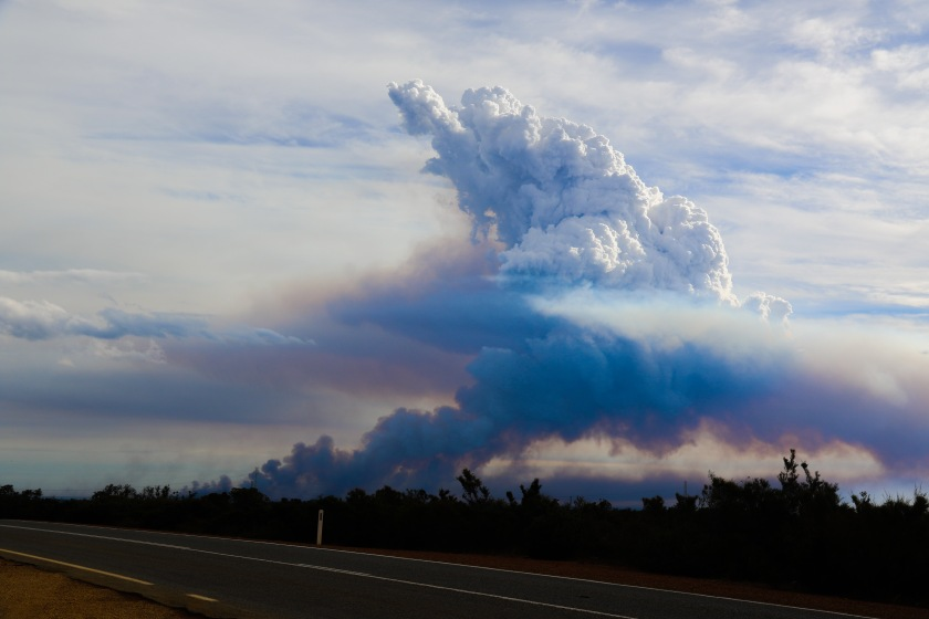 Bushfire Smokestack -viewed from Brand Highway
