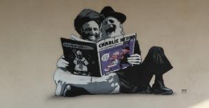 Charlie Hebdo Tribute Graffiti - Denmark, WA