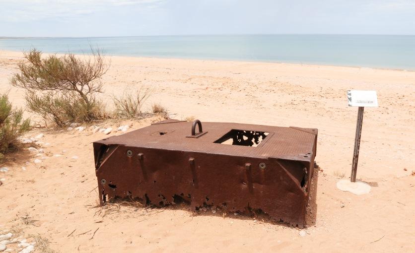 Tank Float - Several secured together formed floating docks as part of Operation Potshot