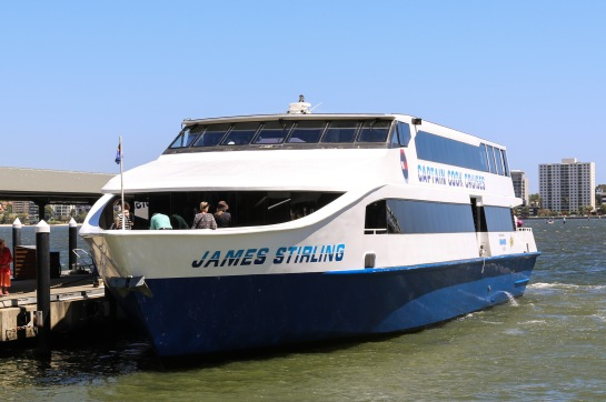 James Stirling, Captain Cook Cruises, Perth, WA
