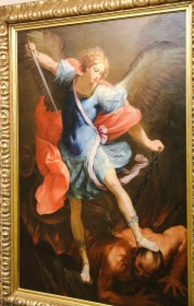 The Archangel Michael Fighting Lucifer - New Norcia, WA