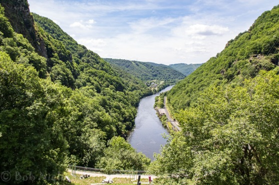 View downstream from Le Barrage de L'Aigle