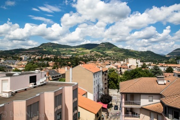 View From Hotel Room - Hotel Mercure, Millau, France