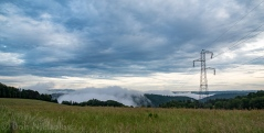 Mist forming in the gorges - Viewed from Serandon