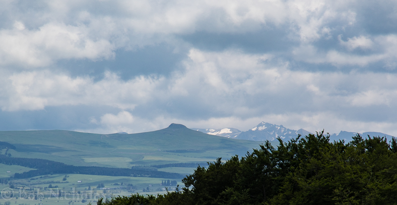 View towards Puy de Dome from near Prondines