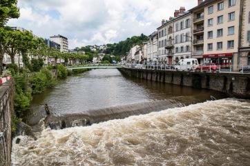 La Correze - The river runs through the centre of Tulle