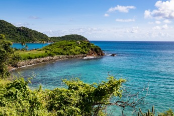 Antigua - View of bay near Boxer Shack Beach Bar.