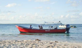 Antigua - Long Bay Beach, back from a fishing trip