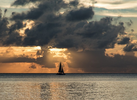 Antigua - Sunset from Darkwood Beach