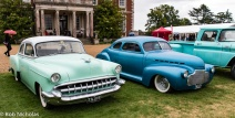 1954 Chevrolet alongside a 1941 Chevrolet