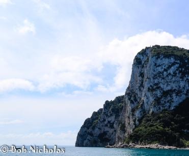 Capri - view as we entered Marina Grande