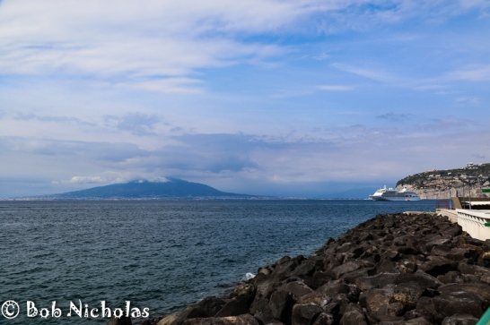 Sorrento - View of Mount Vesuvius