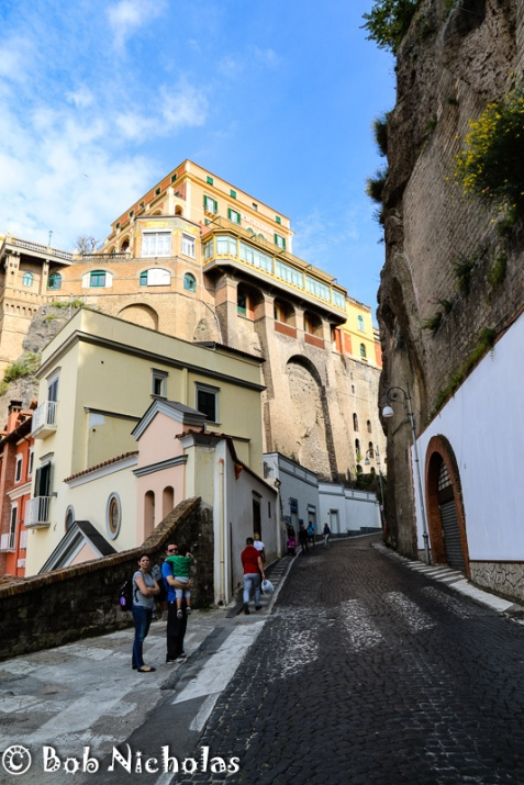 Sorrento - The route up from Marina Piccola