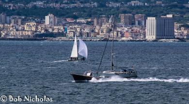 Fishing Boat and Sail Boats