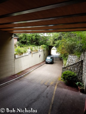 The route from the garage to the hotel.