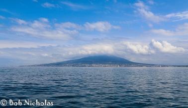 Mount Vesuvius - Clouds and Blue Sky