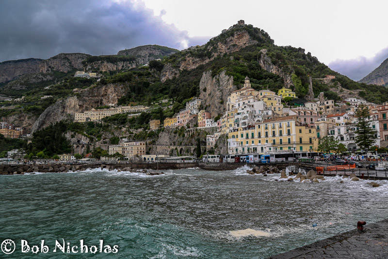 View From End Of Harbour Wall - Amalfi