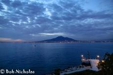Mount Vesuvius and Coastal Lights