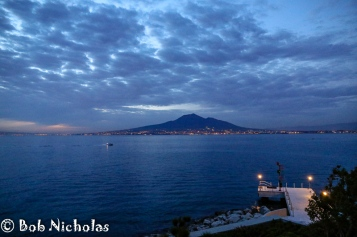 Mount Vesuvius and Coastal Lights