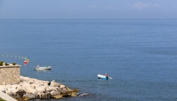 Local fishermen, a daily feature , just off the hotel shoreline