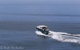 Shuttle boat, under power, on its way to Sorrento