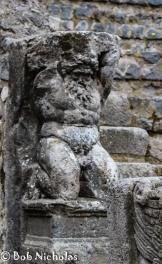 Pompeii - The Odeon or theatrum tectum, decorative feature, Atlas I believe.