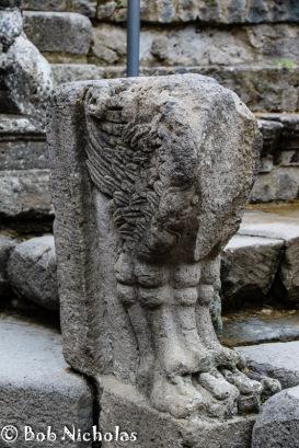 Pompeii - Pompeii - The Odeon or theatrum tectum, decorative feature.