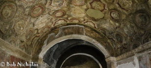 Pompeii - Stabian Baths, ceiling of the Apodyterium