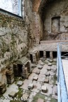 Pompeii - Stabian Baths, Caldarium showing where the hot air would have circulated under the raised floors