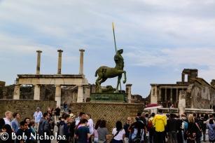 Pompeii - Forum, Centaur by late Polish artist Igor Mitoraj