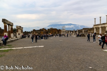 Pompeii - Forum, part of the Arcade to the far right.