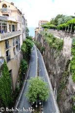Sorrento - via Luigi de Maio, the road to the port and where we parked on our day to Capri