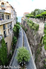 Sorrento - via Luigi de Maio, the road to the port and where we parked on our day to Capri