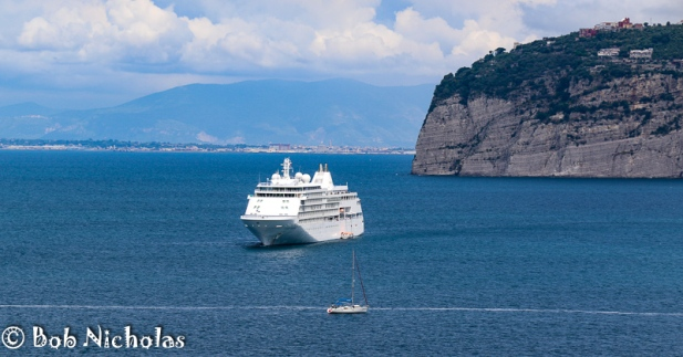 Sorrento - Silver Whisper Viewed From Park Villa Comunale
