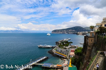 Sorrento - Peters Beach with Porto di Sorrento Viewed From Park Villa Comunale