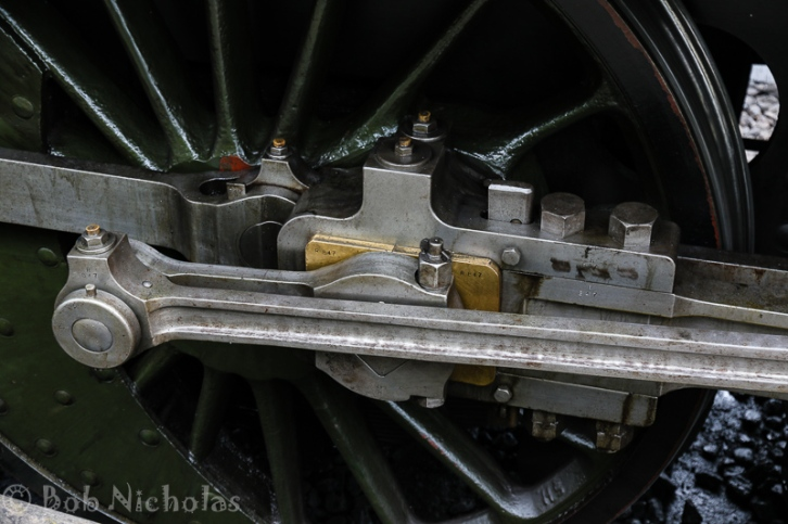 Each piece marked for this specific locomotive