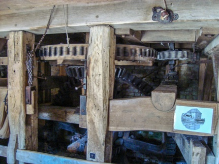 Lurgashall Watermill - The power from the wheel goes here.