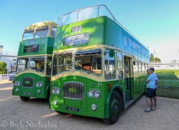 A Pair of Leyland Titan Buses - On the left and example from 1965, the one on the right is one from 1964
