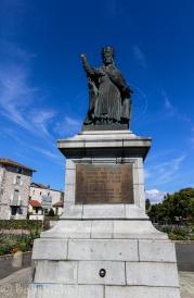Aurillac - Statue of Pope Gerbert