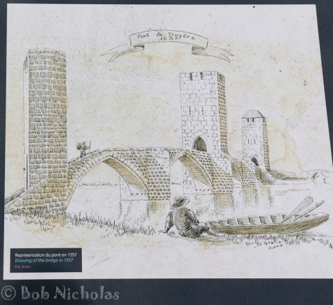 A drawing of the bridge in 1557