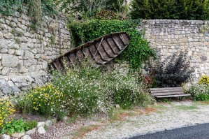 Entraygues-sur-Truyere - A Gabarre is a kind of flat bottomed boat