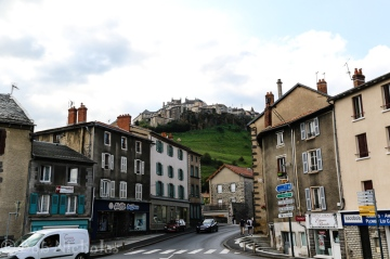 St Flour -Upper town, viewed from below.