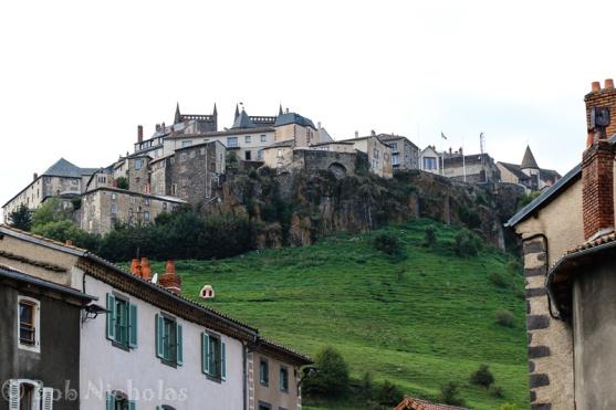 St Flour -Upper town, viewed from below.