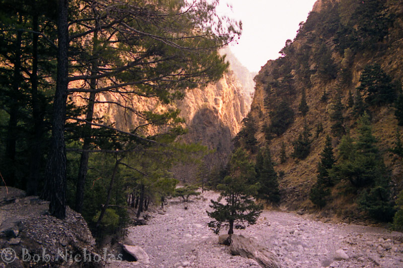 Samaria Gorge, Crete - One of the flatter points.