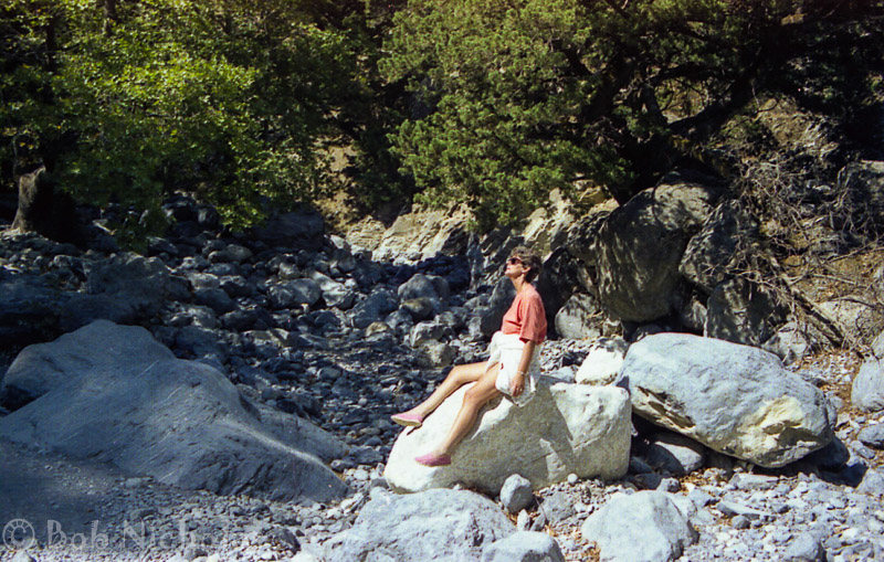 Samaria Gorge, Crete - Gerry making it look all too easy.