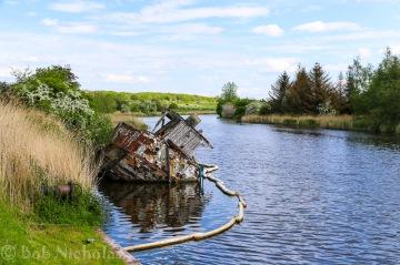 """Derelict Vessel """"Chica"""", Dutton Locks"""