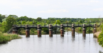 Spillway near Dutton Locks